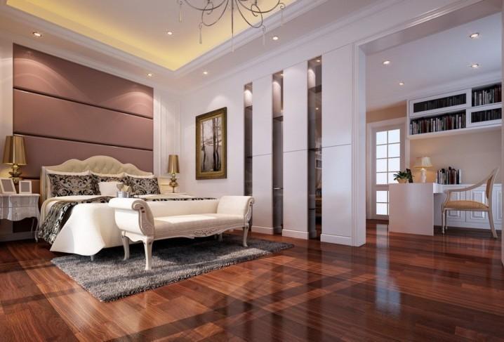 Những phòng ngủ hiện đại với thiết kế sàn gỗ