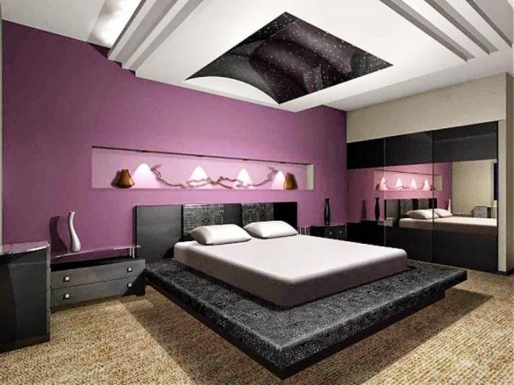 Sắc tím lãng mạn trong phòng ngủ